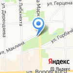 Ботанический сад на карте Кирова