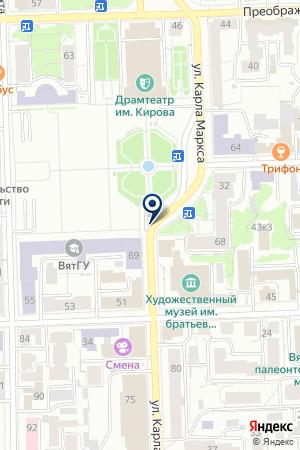 ТРЕСТ КИРЛЕССТРОЙ на карте Кирова