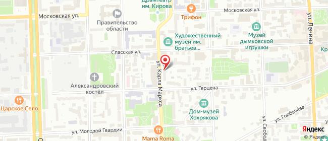 Карта расположения пункта доставки Халва в городе Киров