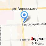 Павлин на карте Кирова