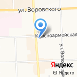 Люкс и Селена на карте Кирова