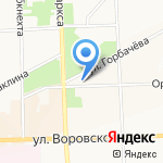 Компас на карте Кирова