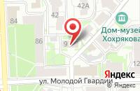 Схема проезда до компании Люкс-Сервис в Кирове