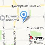 Клевер на карте Кирова