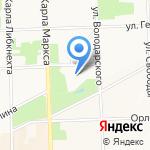 Вятские центральные бани на карте Кирова