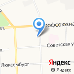 Стальная марка на карте Кирова