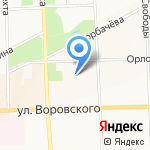 Союз российских писателей на карте Кирова
