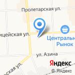 Хрусталик на карте Кирова