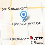 Дельфи на карте Кирова