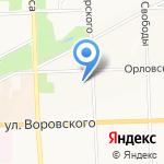 Городское землеустройство на карте Кирова
