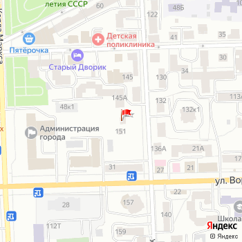 г. Киров, ул. Володарского,147 на карта
