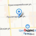 Магазин обуви и головных уборов на карте Кирова