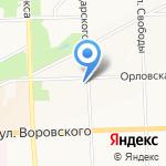 Лилия на карте Кирова