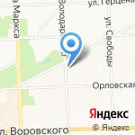 Благовест на карте Кирова