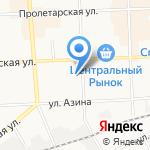 Средняя общеобразовательная школа №20 на карте Кирова