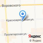 Киоск по продаже хлебобулочных изделий на карте Кирова