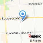 Золотая игла на карте Кирова