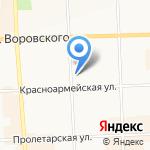 Мясной на карте Кирова