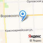 Преображение на карте Кирова