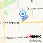 Астра на карте Кирова