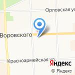 Вяткаплем на карте Кирова