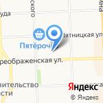 Воробьевы пруды на карте Кирова