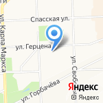 Диора на карте Кирова