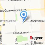 Кабинет массажа на карте Кирова
