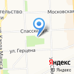 Старая Вятка на карте Кирова