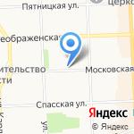 Каземат на карте Кирова