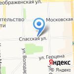 Слободской лес на карте Кирова
