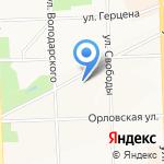 Территориальный орган федеральной службы государственной статистики по Кировской области на карте Кирова