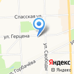 Монолит на карте Кирова