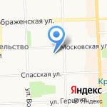Московская на карте Кирова