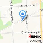 Щёточка на карте Кирова