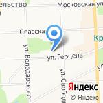 Старая крепость на карте Кирова