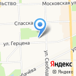 Изостудия Ксении Носковой на карте Кирова