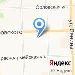 Средняя общеобразовательная школа №16 на карте Кирова