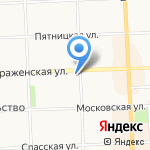 Никольский на карте Кирова