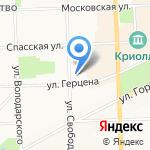 Вятская гуманитарная гимназия с углубленным изучением английского языка на карте Кирова
