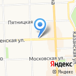 Цветофор на карте Кирова