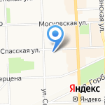 Шиномонтаж на Спасской на карте Кирова