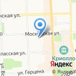 Лайнер-тур на карте Кирова