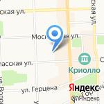 Силуэт на карте Кирова