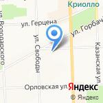 Артмода на карте Кирова