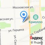 Велосипедное движение Вятки на карте Кирова