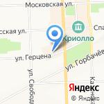 Идальго на карте Кирова