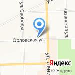 Каскад-Комплекс на карте Кирова