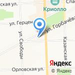Зифир на карте Кирова