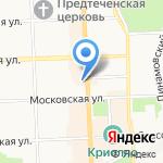 Глобус на карте Кирова